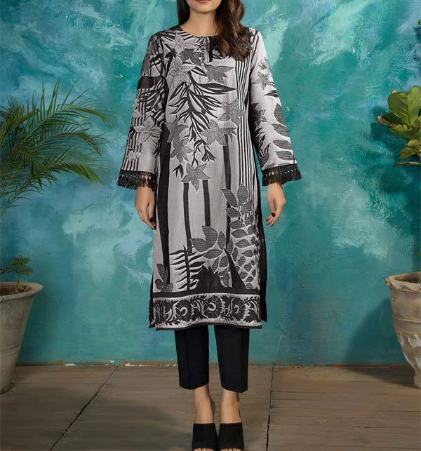 Linen Embroidered Dress 2021-2022 with Wool Shawl Dupatta (LN-250)