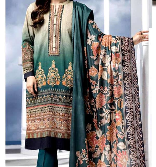 Linen Embroidery Suit With Linen Dupatta UnStitched (LN-168)