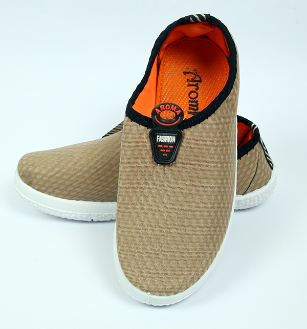 Women Casual Canvas Shoes - Brown Color (Size 6 to 9)
