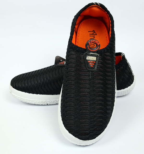 Women Casual Canvas Shoes - Black Color (Size 6 to 9)
