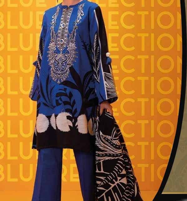 Luxury Eid Lawn Collection 2021 With Chiffon Printed Dupatta (DRL-776)