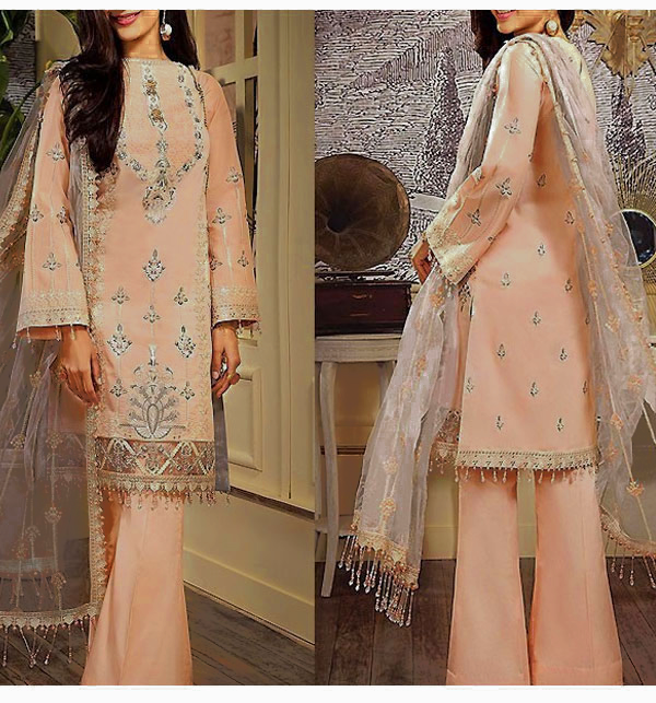 Luxury Embroidered Lawn Dress with Lawn Dupatta UnStitched (DRL-620)