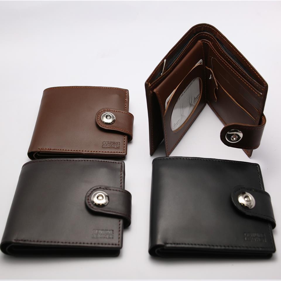 Men 100% Leather Casual Man Wallets Purse Standard Card Holders (W3)