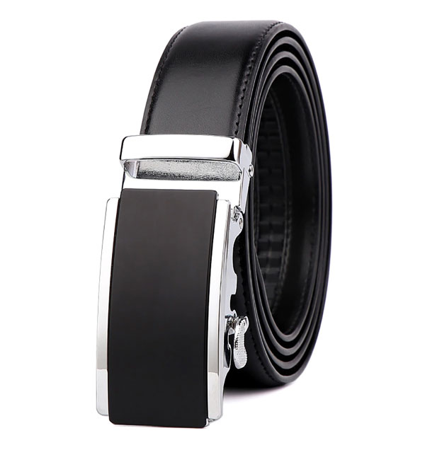 Men's Leather Belt Reversible Wide Rotationed Simple Buckle (MB-05)