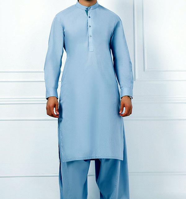Mens Wash n Wear Shalwar Kameez (MSK-55) (Un-Stitched)