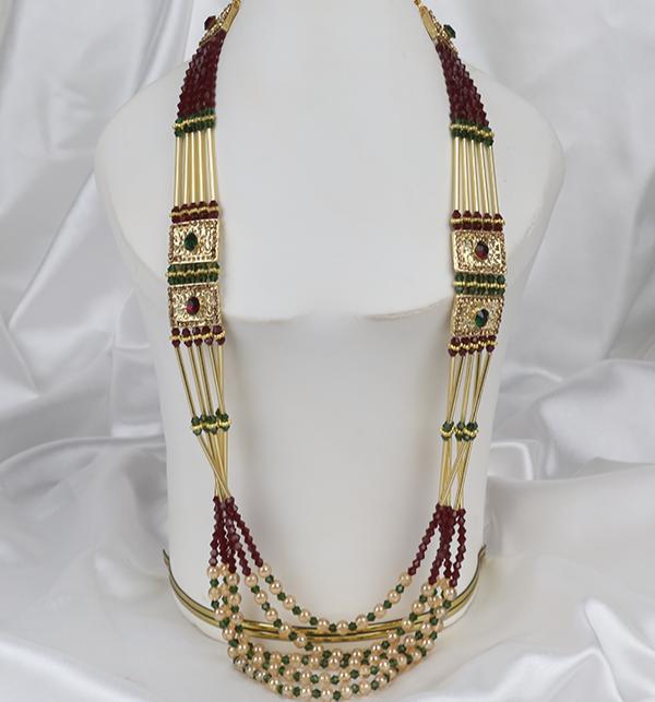 Multi Color Beautiful Mala Jeweler Set (PS-259)
