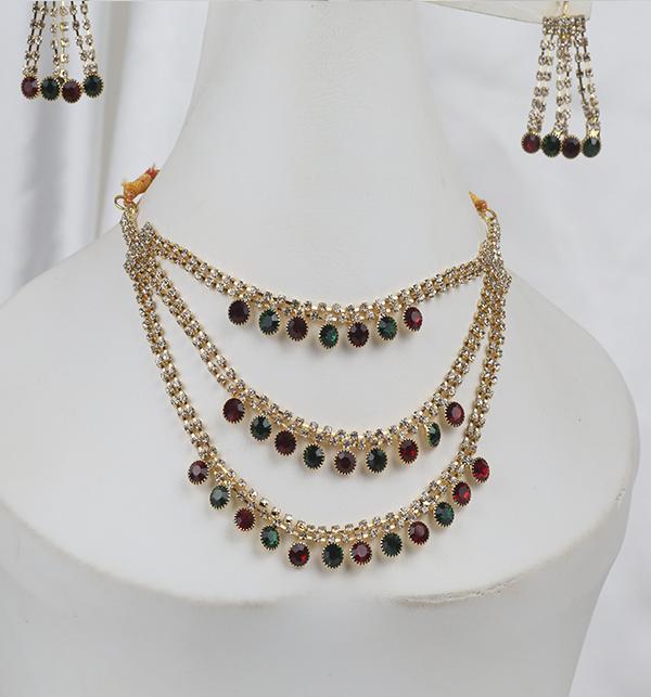 Multi Color Bridal Artificial Mala Jewellery Set (PS-262)