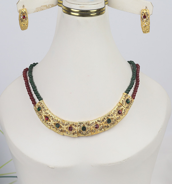 Multi Color Golden Jewelry Set Design For Women (PS-367)