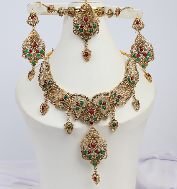 Beautiful Bridal MultiColor Jewelry Sets Design (PS-215)