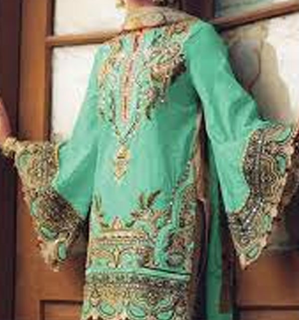 Neck Embroidered Lawn Dress With Chiffon Dupatta (DRL-413) (Unstitched)