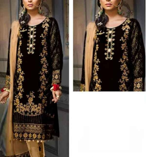Neck Embroidered Lawn Suit 2021 With Lawn Dupatta Un-Stitched (DRL-677)