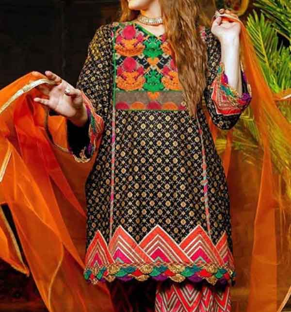 Lawn Embroidered Dress 2021 with Chiffon Dupatta UnStitched (DRL-661)