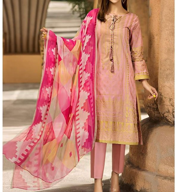 Khaddar Embroidered Suit 2019 with Wool Dupatta (LN-92) (Unstitched)