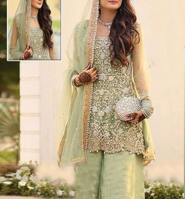 New Net Bridal Embroidery Suit 2020 (CHI-221) (Unstitched)