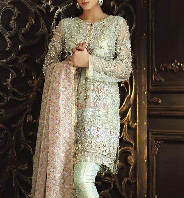 Net Embroidery Suit With Net Embroidery Duppata (CHI-267) (Unstitched)