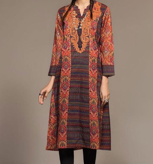 New 2020 Embroidered Lawn Dress with Chiffon Dupatta  UnStitched (DRL-623)