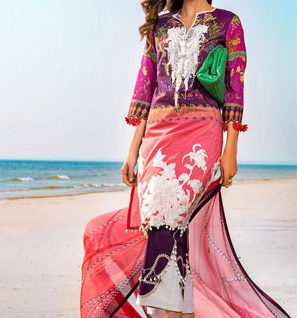 Lawn Embroidery suits for women Unstitched (DRL-491)