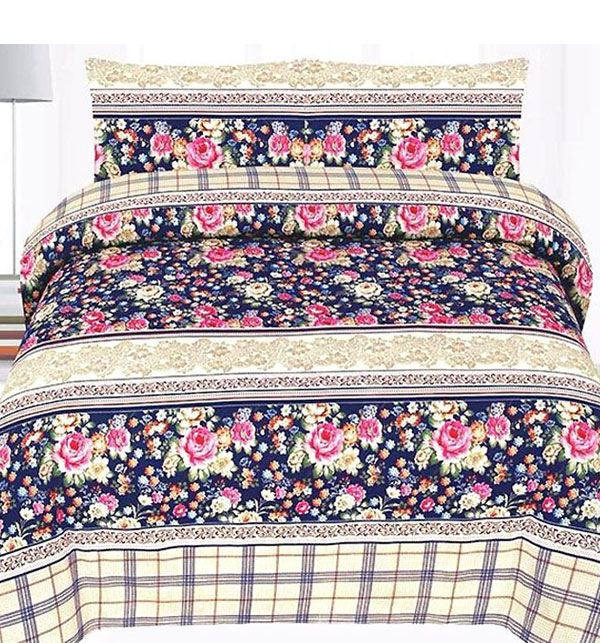 King Size PC Polyester Cotton Bed Sheet (PC3D-43)