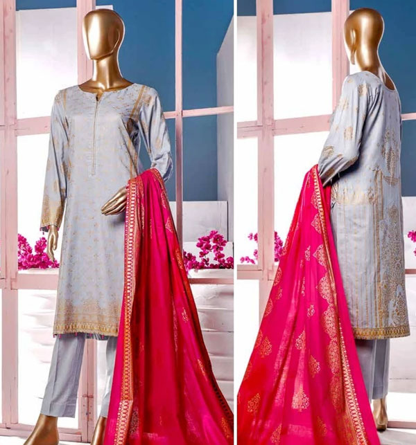 New Block Print Banarsi Lawn Suits 2020 With Lawn Dupatta (MBP-02) (Unstitched)