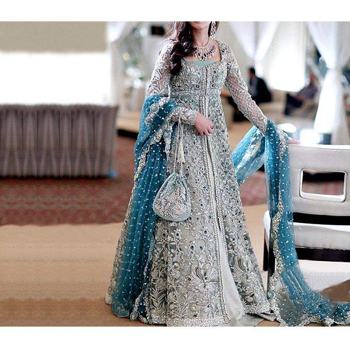 Designer Embroidered Chiffon Bridal Dress (CHI-21)