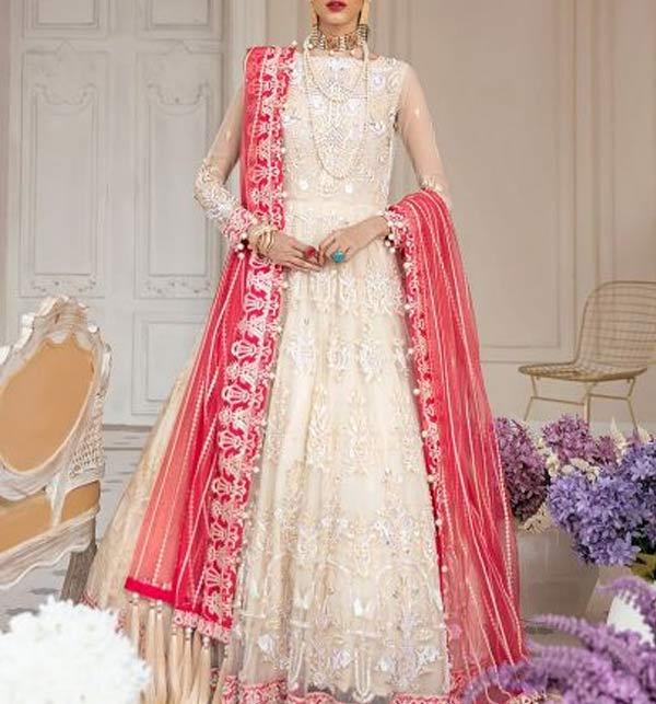 New Embroidered Chiffon Dress With Chiffon Net Dupatta (CHI-506)