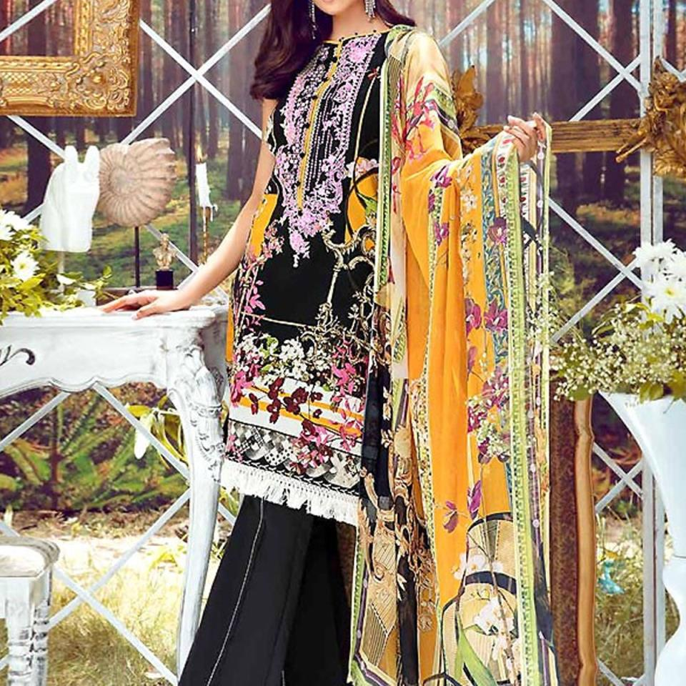 New Embroidered Lawn Dress 2020 with Chiffon Dupatta (DRL-414) (Unstitched)