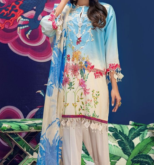 New Embroidered Lawn Suit 2020 Unstitched (DRL-494)