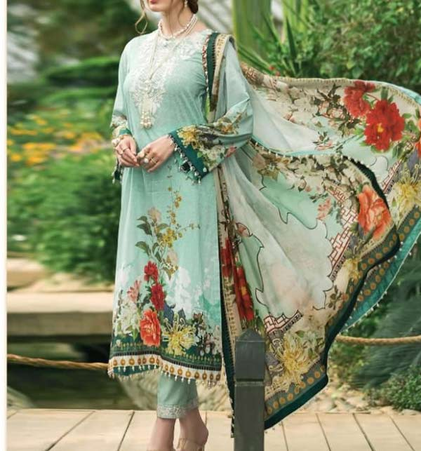 Kotail Linen Embroidered Dress with Wool Shawl Dupatta UnStitched (LN-177)