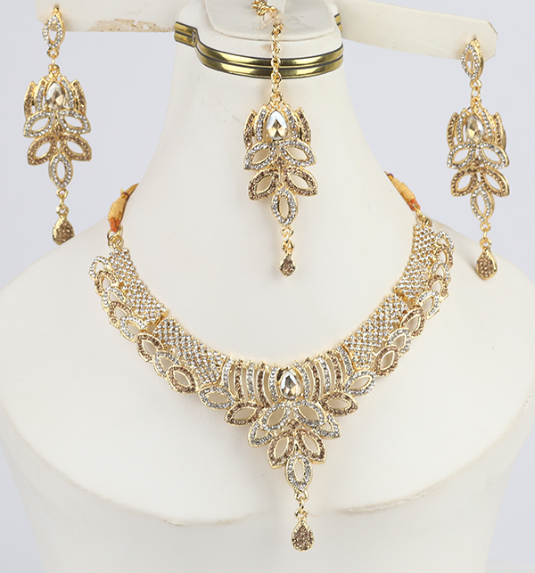 Eid Collection Jewelry Set With Earring & Matha Patti  (PS-286)