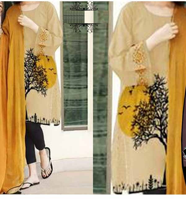 LAWN SEQUENCE Embroidered Suit EMB Dupatta 2PC (Unsicthed) (DRL-693)