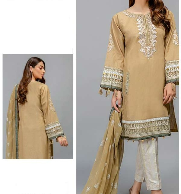 New Linen Embroidery Dress With Wool Duppata Winter Collection 2020-21 (UnStitched)  (LN-196)