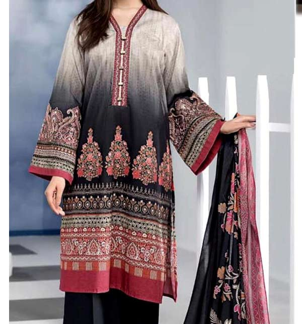 New Linen Embroidery Suit With Linen Dupatta UnStitched (LN-169)