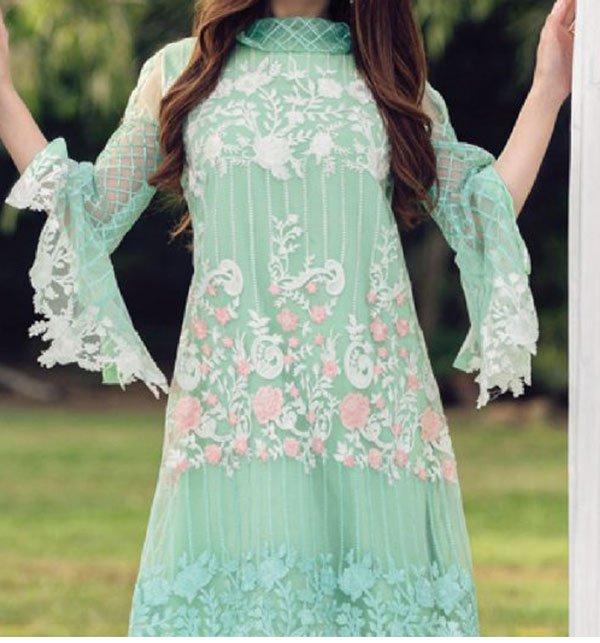 New Net Embroidery Kurti Unstitched Ek 85 Price In Pakistan