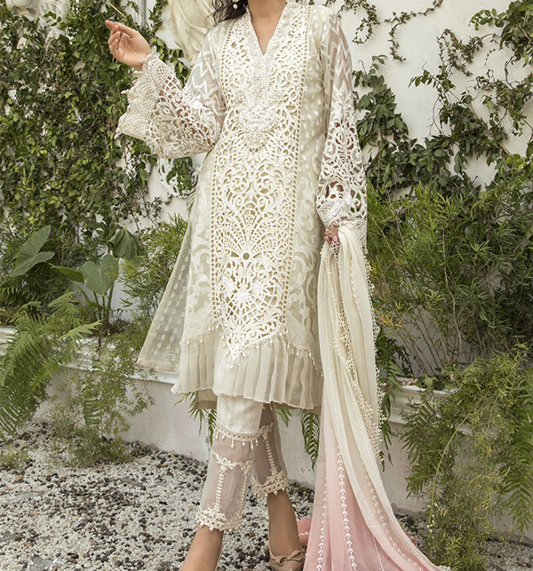 New Organza Heavy Embroidery Suit Unsitched ((CHI-380)