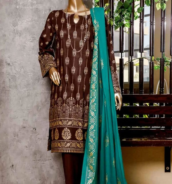 New Block Printed Banarsi Lawn Collection 2020 With Lawn Dupatta (MBP-11) (Unstitched)