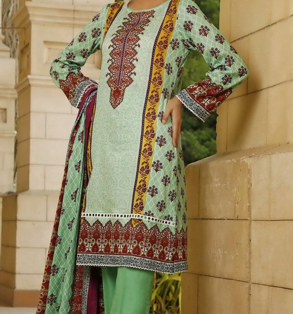 New VS Classic Printed Lawn Collection 2020 With Lawn Dupatta 20-116B