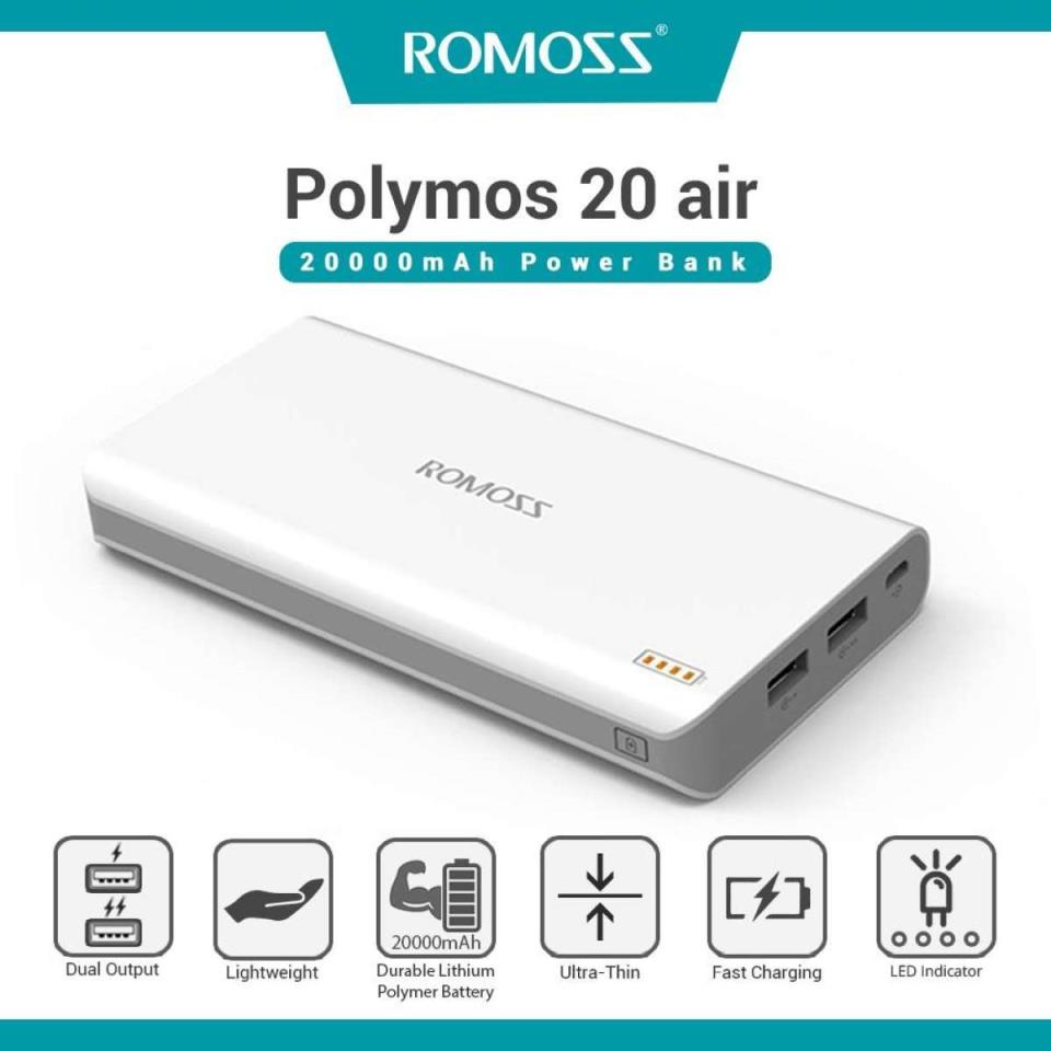 Original ROMOSS Polymos 20 Dual USB 20000mAh