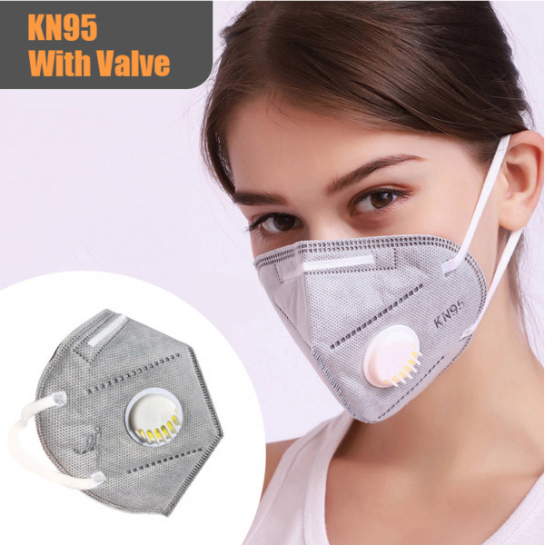 PACK OF 2 Grey MASK (KN-95) Face Mask Protective