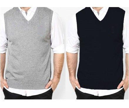 Pack of 2 Sleeveless Sweaters (PLAIN)