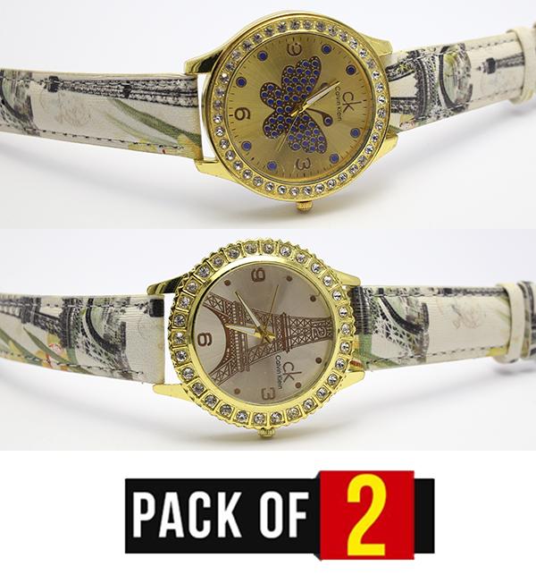 Pack OF 2 Women Watch Deal (CW-95) & (CW-96)