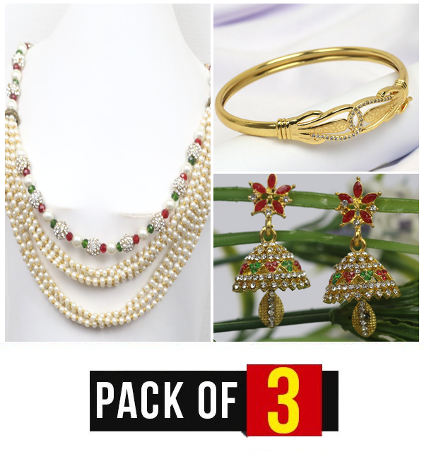 Pack OF 3 Jewelry Deal   For Women (PS-161), (BH-38) &  (JL-21)
