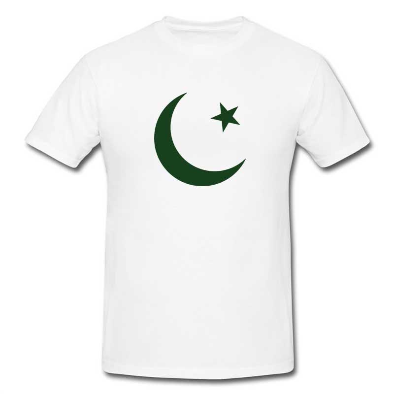 Pakistan Zindabad T-Shirt for Men (White) (ONLY DELIVER IN KARACHI)