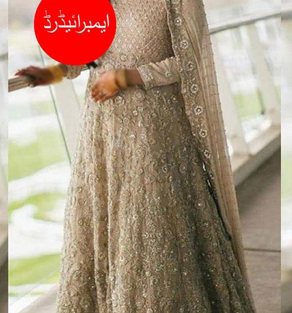 Designer Heavy Embroidered Chiffon Dress (CHI-280)