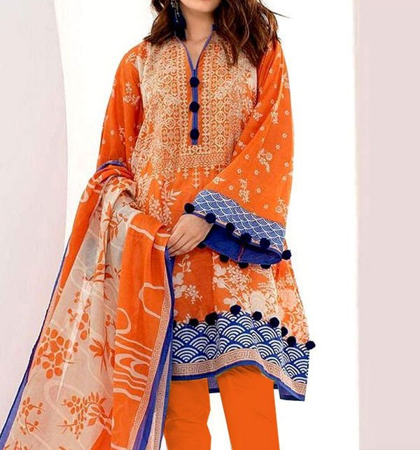 LINEN Embroidery Dress with Linen Dupatta (Unstitched) (LN-71)