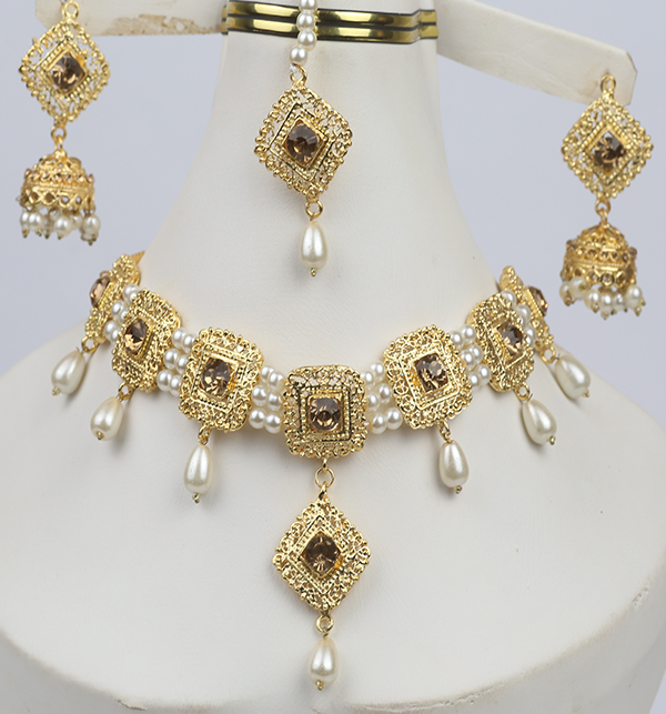 Pearl  Bridal Jewelry Set  (PS-282)