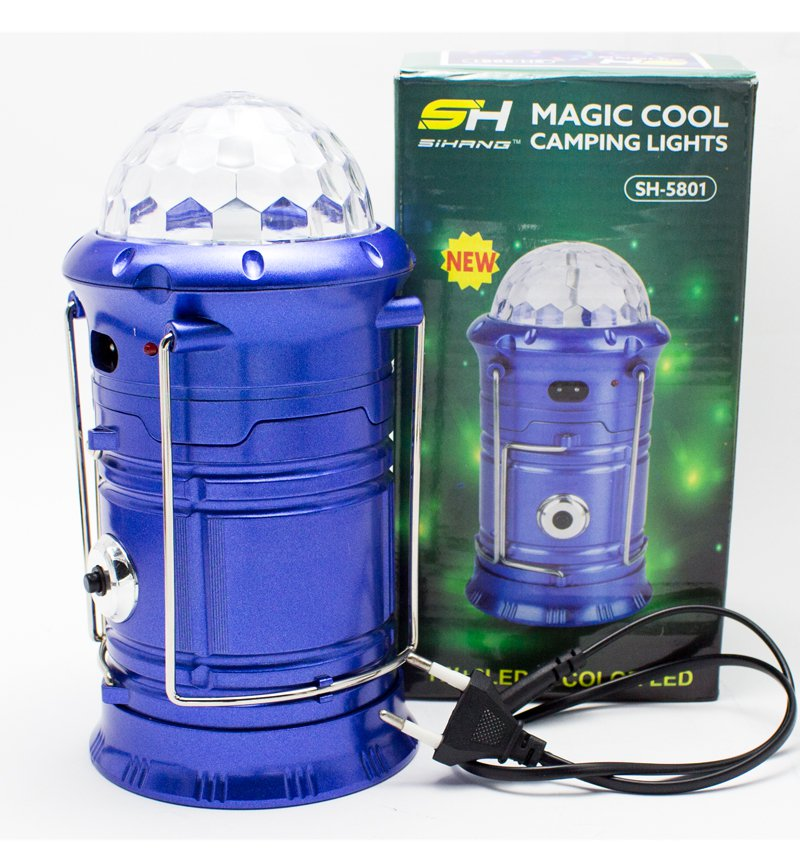 Portable Charging Disco Light, LED Lamp & Torch (Three in One)