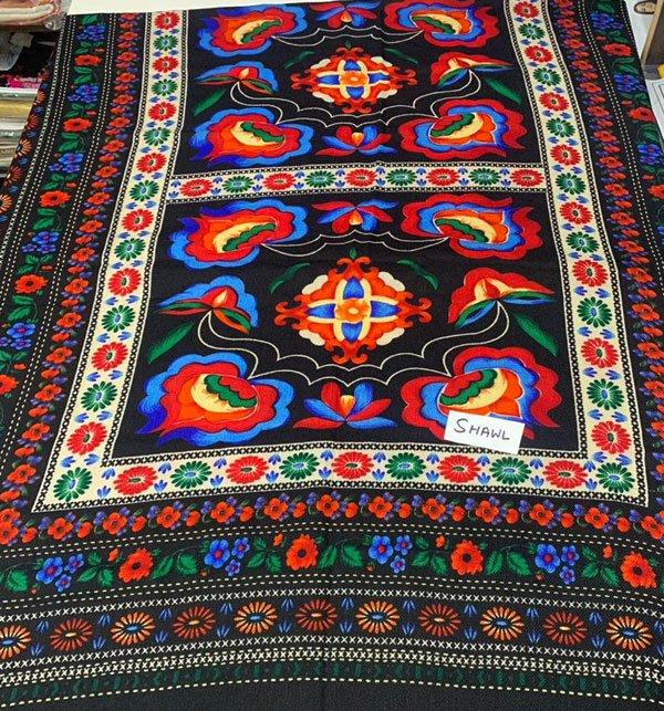 Pashmina Wool Shawl Printed - (100% Pure Wool ) Shawl 21