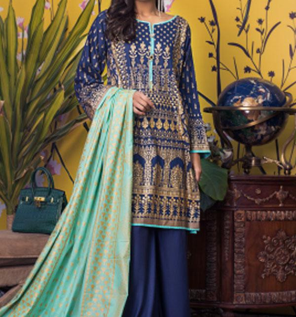 Banarsi Lawn Printed Collection 3 Pec Suit BY Z.S Textile (RBP-09) (Unstitched)