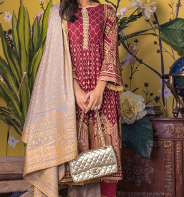 Banarsi Lawn Block Printed Collection 3 Pec Suit BY Z.S Textile (RBP-10) (Unstitched)