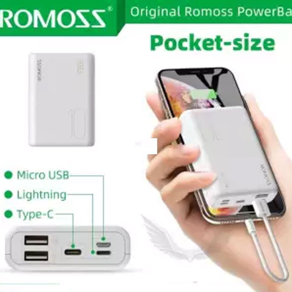 Romoss Power Bank Sense 4s Mini 10000mah